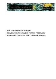 GUÍA DE EVALUACIÓN GENERAL CONVOCATORIA DE AYUDAS ...
