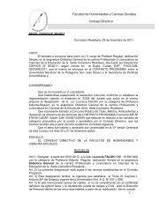 Facultad de Humanidades y Ciencias Sociales Consejo Directivo