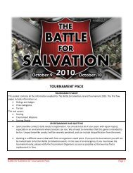 TOURNAMENT PACK - The Battle for Salvation Grand Tournament
