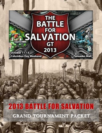 the 2013 BFS Grand Tournament Packet. - The Battle for Salvation ...