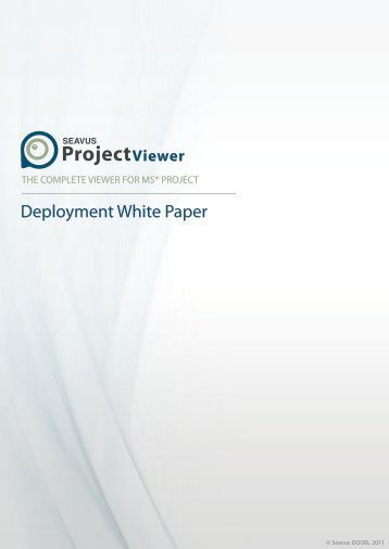 Seavus Project Viewer White Paper