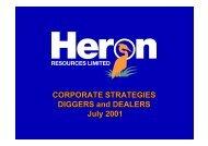 2001 Diggers & Dealers Presentation - Heron Resources Limited