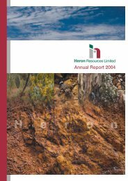 2004 Annual Report - Heron Resources Limited