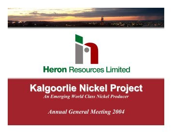 2004 AGM Presentation - Heron Resources Limited