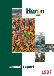 1997 Annual Report - Heron Resources Limited
