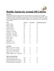 Healthy Snacks for Around 100 Calories - Scarsdale Medical Group