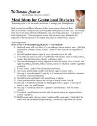Meal Ideas for Gestational Diabetes - Scarsdale Medical Group