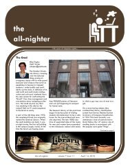 Volume 7 Issue 11 - The All-Nighter
