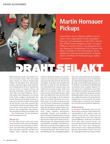 Martin Hornauer Pickups - Music Station