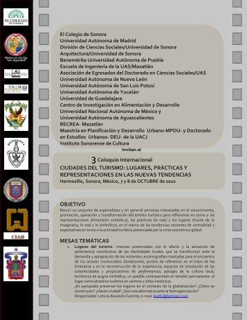 III Coloquio Internacional Ciudades del Turismo - Topofilia