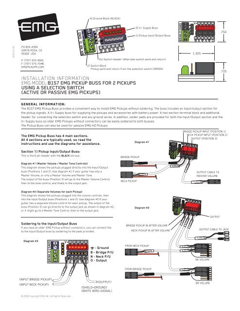 Emg B Pickup Wiring Diagram