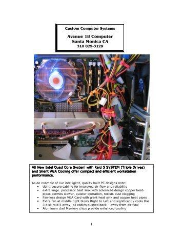 Custom Computer - AVENUE 18 COMPUTER