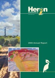 2000 Annual Report - Heron Resources Limited