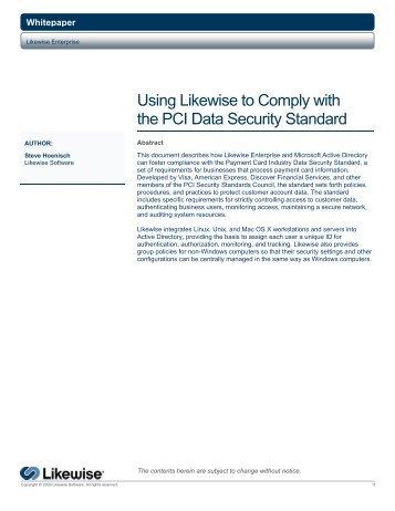 PCI DSS Whitepaper - Purple Rage