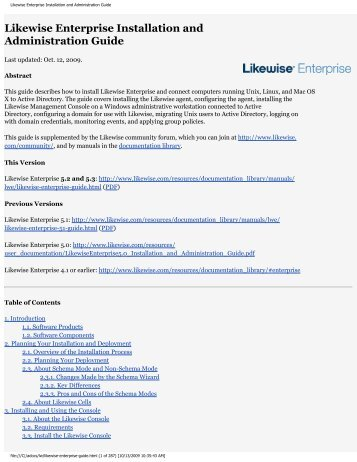 Likewise Enterprise Installation and Administration ... - Purple Rage