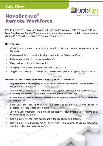 NovaBackup Remote Workforce DataSheet - Purple Rage