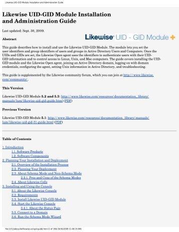 Likewise UID-GID Module Installation and ... - Purple Rage