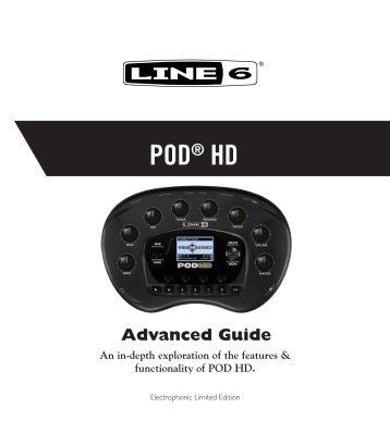 Line 6 POD® HD Advanced Guide (Rev. B, v.1.03, English)