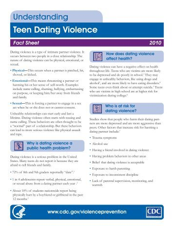 Understand Teen Dating Violence - CT Parenting