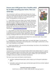 Ensure your child grows into a healthy adult by ... - CT Parenting