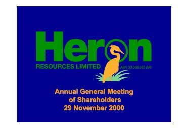 2000 AGM Presentation - Heron Resources Limited