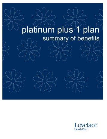 platinum plus 1 plan - Lovelace Health Plan