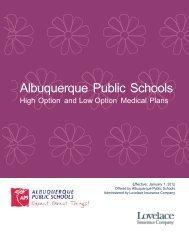 2012 APS SPD - Lovelace Health Plan