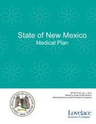SONM 2012 Summary Plan Description - Lovelace Health Plan