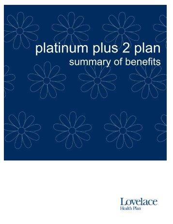 Summary of Benefits - Lovelace Health Plan
