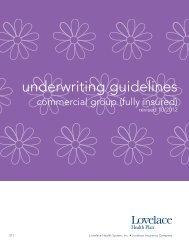 underwriting guidelines - Lovelace Health Plan
