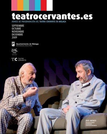 + Programación SEP-DIC 2009 (PDF 7,1MB) - Teatro Cervantes