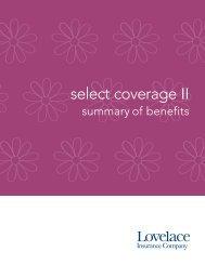 Select Coverage II 2500 - Lovelace Health Plan