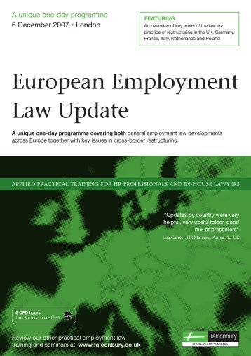 European Employment Law Update - King & Spalding