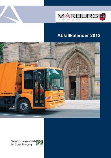 Abfallkalender 2012 - Dienstleistungsbetrieb Marburg