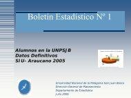 Boletín Estadístico Nº 1 - Universidad Nacional de la Patagonia San ...