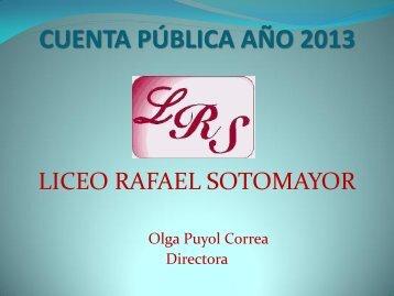 cuenta pública año 2013 - Liceo Rafael Sotomayor