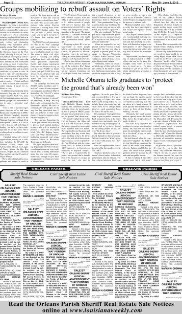 May 28, 2012 - The Louisiana Weekly
