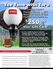 Tee Time with Toro - Kenney Outdoor Solutions