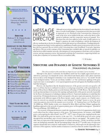 Volume 2, Issue 5 (Sep 15, 2008). - Consortium of the Americas for ...