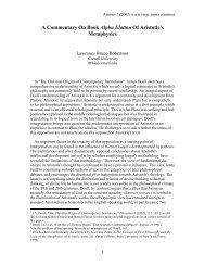 A Commentary On Book Alpha Elatton Of Aristotle's Metaphysics