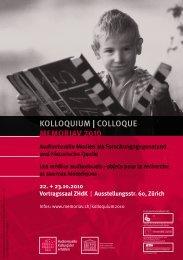 KOLLOqUiUM | COLLOqUE MeMOriAV 2010