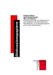 Kaspar Maase Gerd Hallenberger Mel van Elteren - Hamburger ...