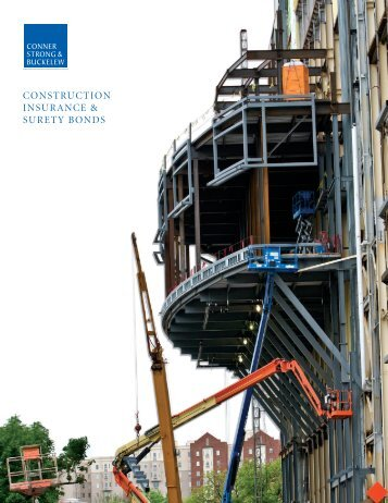 construction insurance & surety bonds - Conner Strong & Buckelew