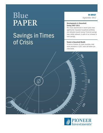 Savings in Times of Crisis - Pioneer Investments