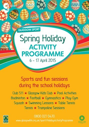 Spring Holiday Programme 2015