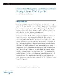 Holistic Risk Management for Perpetual Portfolios ... - Commonfund