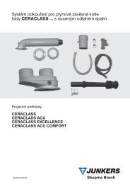 Systém odkouření pro plynové závěsné kotle řady Ceraclass s ...