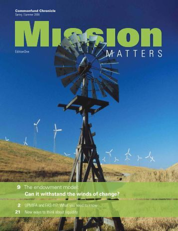 Missions Matters Spring Summer 2009.pdf - Commonfund