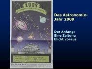 Das Astronomie- Jahr 2009