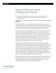 Sources of Endowment Growth at Colleges and ... - Commonfund